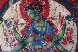 Green-tara-alchi-mural-kargil