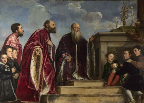 1280px-Titian_and_workshop_-_The_Vendramin_Family _venerating_a_Relic_of_the_True_Cross_-_Google_Art_Project (1)