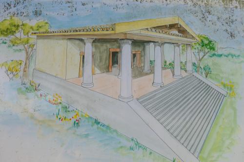 Etruscan temple