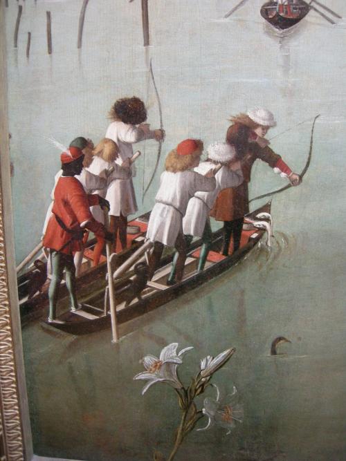 Carpaccio _Vittore_-_Hunting_on_the_Lagoon_(recto);_Letter_Rack_(verso)_-_Google_Art_Project